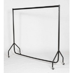 Black Knock Flat Garment Rail 5ft (H) x 5ft (W)