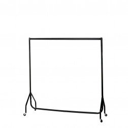 Black Knock Flat Junior Garment Rail 4ft (H) x 4ft (W)