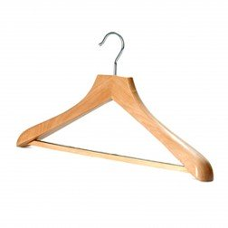 Wooden Wishbone Hanger with Non-slip Bar