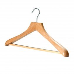 Chuncky Wooden Wishbone Hanger with Non-Slip Bar
