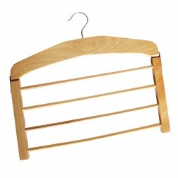 4 Bar Wooden Trouser Hanger